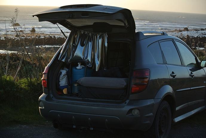car ast beach